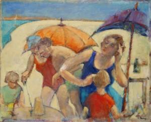Terry Perry - Beach - Oil - Framed- 40x50cm