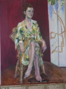 Angela Howard - Girl in a Kimino - Acrylic