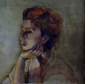 Martin Bentley - face - framed - 33x33cm