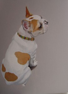 Gill Autie - French Bulldog - Acrylic on canvas